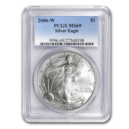 2006-W Burnished Silver American Eagle MS-69 PCGS American Silver Eagle Gem
