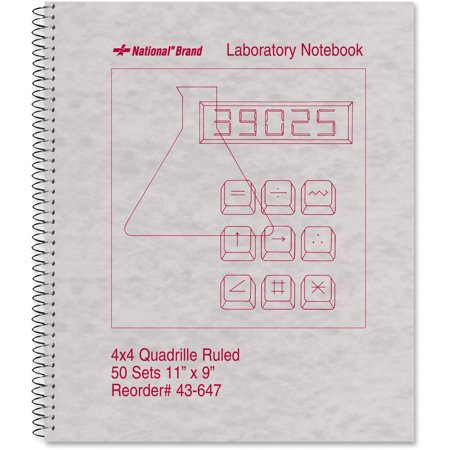 Rediform, RED43647, Quad-ruled Laboratory Notebook, 1 Each