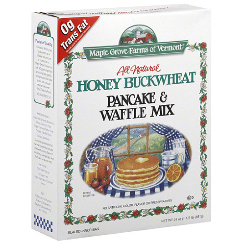 Maple Grove Farms Honey Buckwheat Pancake & Waffle Mix, 24 oz, (Pack of 6)