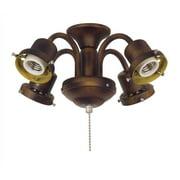 4-Light Ceiling Fan Light Kit Traditional Fitter in Tortoise Shell