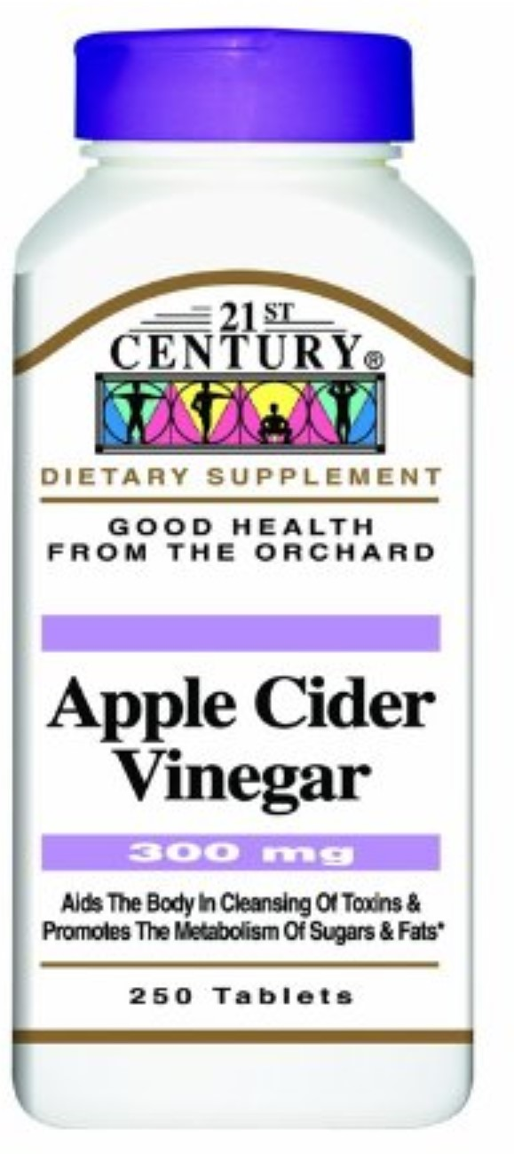 21st Century Apple Cider Vinegar, 300mg, 250 ea (Pack of 2) by