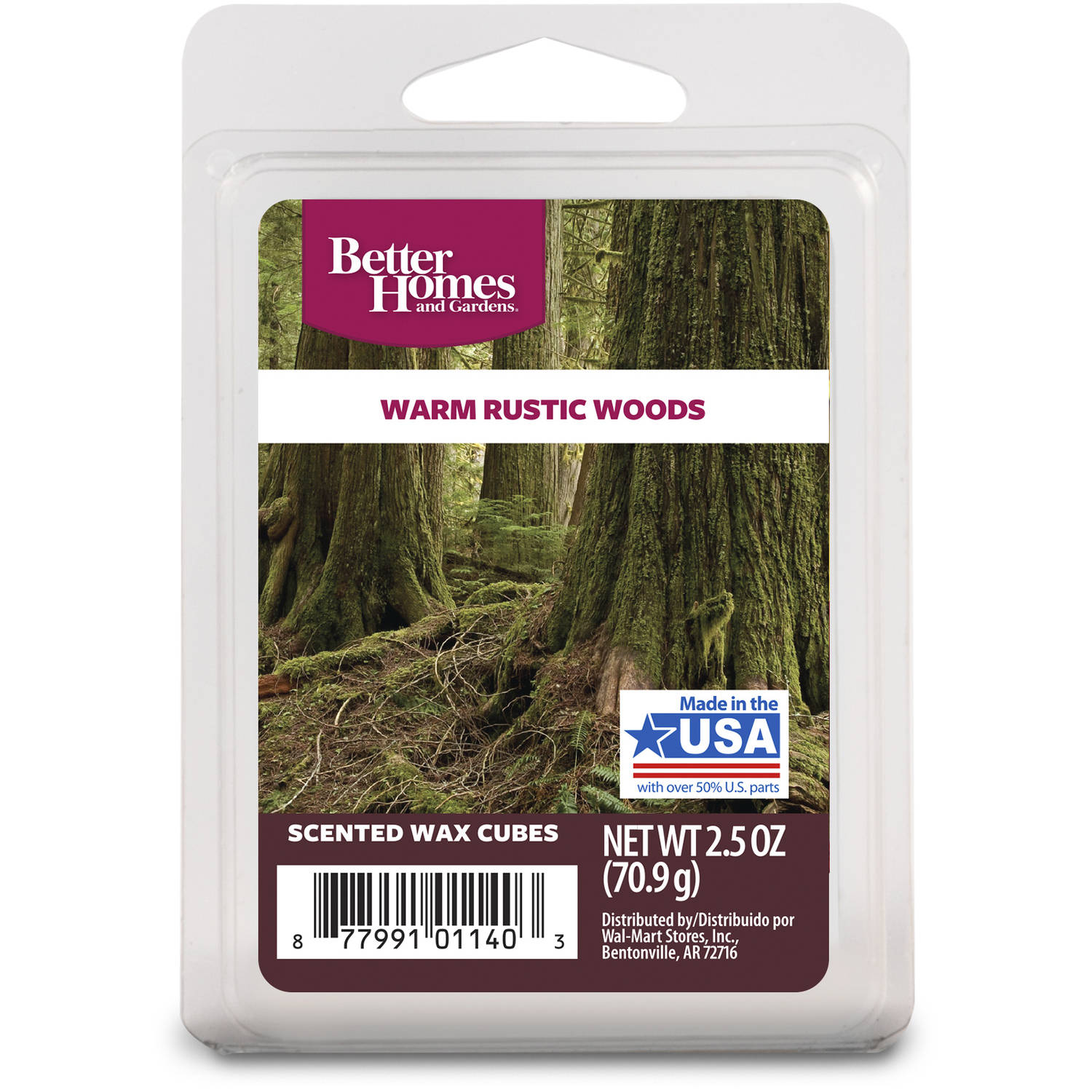 Better Homes & Gardens 2.5 oz Warm Rustic Woods Scented Wax Melts, 1 ...