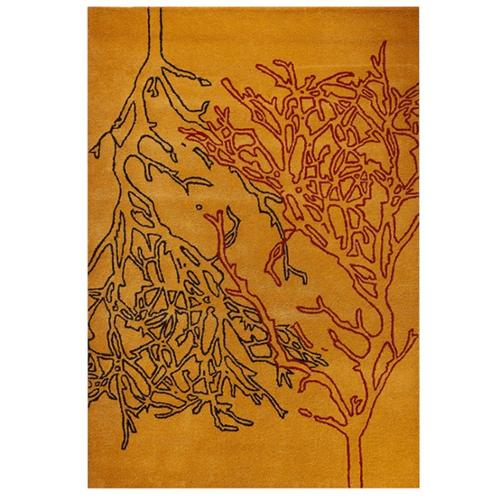 MA Trading M.A. Trading Hand-tufted Vines Orange Rug (5'2 x7'6)