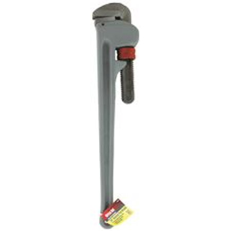 Great Neck Pipe Wrench, Aluminum, 24 In. 24' Aluminum Straight Pipe Wrench
