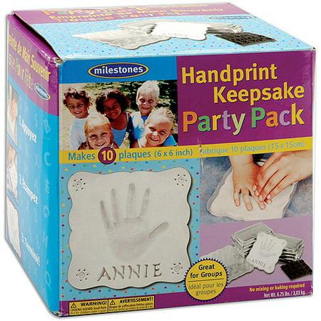 Milestones Handprint Keepsake Party Pack, - Handprint Keepsake