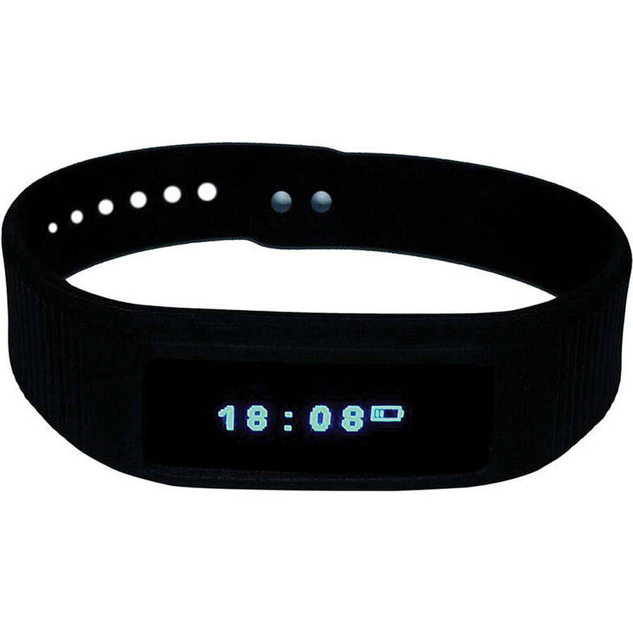 iView Black Smart Wrist Fitness Band
