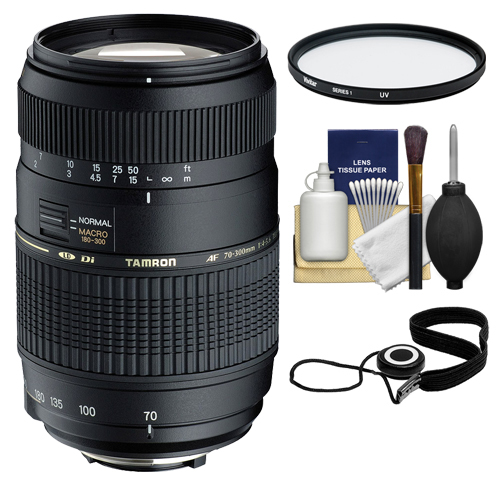 Tamron 70-300mm Di Macro Lens with Hood + 62mm UV Filter ...