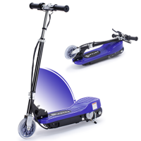 Maxtra E100 Adjustable Handlebar Height Folding Electric Scooter for Kids, 160LBS Max Weight Capacity Motorized Scooters, up to 10mph - Dark blue