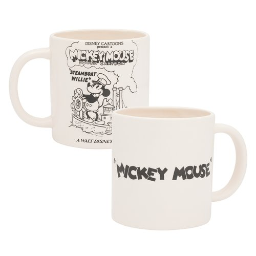 Vandor LLC Disney Mickey Mouse Steamboat Wille 2 Piece Coffee Mug Set (Set of 2)