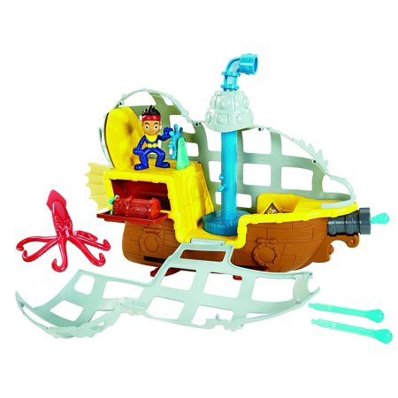 Fisher-Price Jake and The Never Land Pirates - Submarine Bucky's Never Sea Adventure, Bucky transforms into other vehicle modes By FisherPrice Ship from US (Jake Pirate Ship)