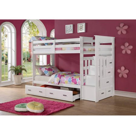 Acme Furniture Allentown Twin Over Twin Wood Bunk Bed