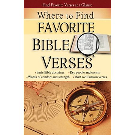 Where to Find Favorite Bible Verses Pamphlet](Biblical Verse)