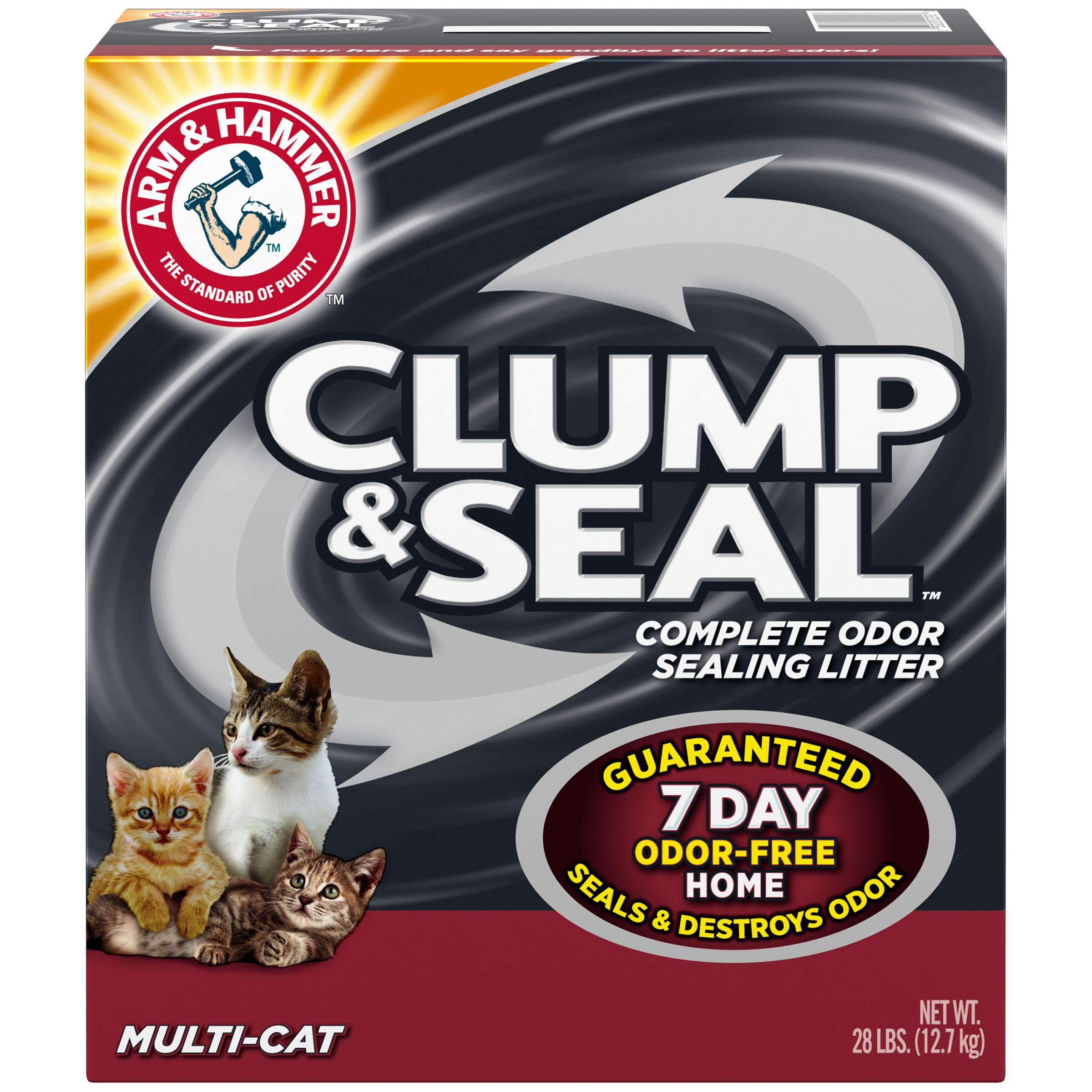 Arm & Hammer Clump & Seal Litter, Multi-Cat 28lb