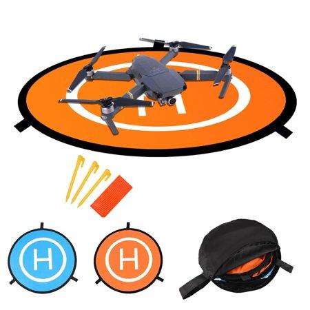 Drones Landing Pad,TSV Universal Waterproof D 75cm/30'' Portable Foldable Landing Pads for RC Drones Helicopter, PVB Drones, DJI Mavic Pro Phantom 2/3/4/ Pro, Antel Robotic, 3DR Solo