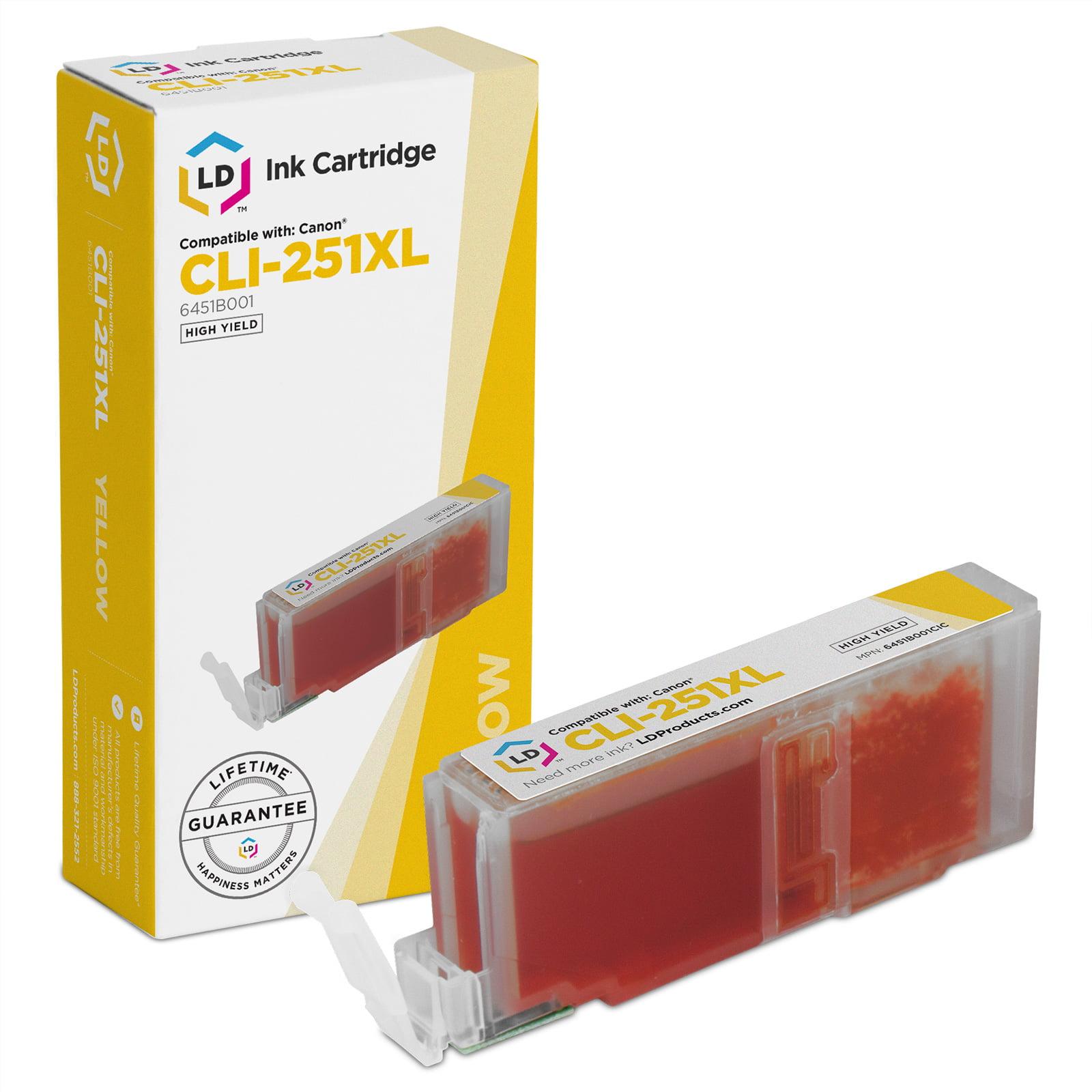 LD © Compatible Canon 6451B001/CLI-251XL High Yield Yellow Ink Cartridge for PIXMA MX922, MG5420, MG6320, MX722, IP7220, MG5422, MG7120, MG5520, MG6420 Printers