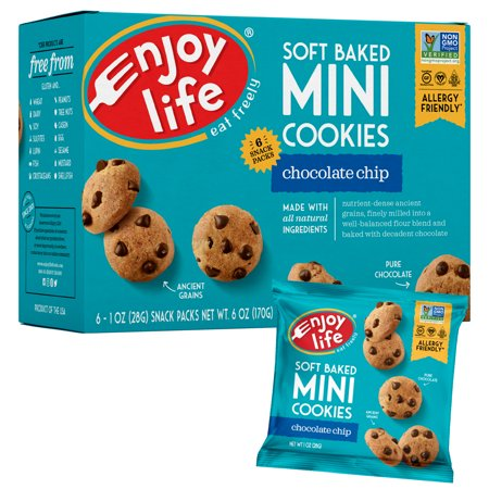 Enjoy Life Foods Gluten Free, Allergy Friendly Soft Baked Chocolate Chip Mini Cookies, 6 oz](Halloween Spider Chocolate Chip Cookies)