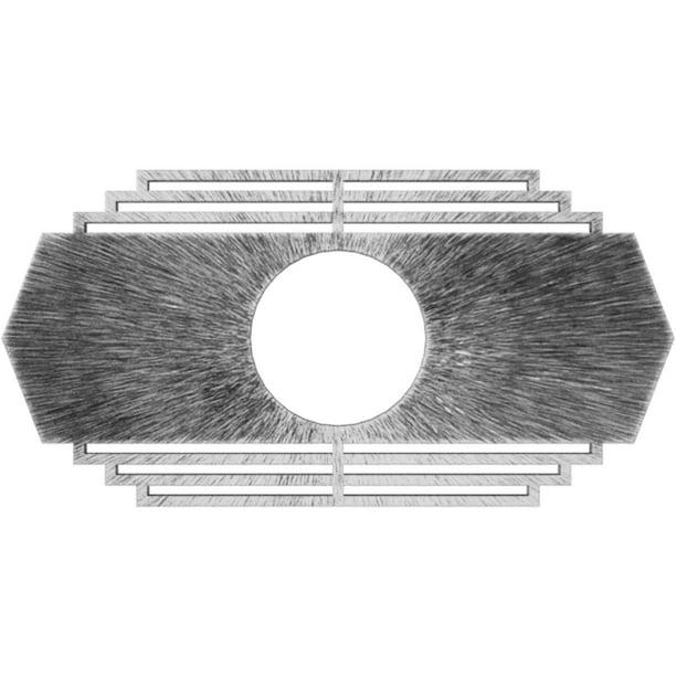 Ekena Millwork 40 W X 20 H X 10 1 2 Id X 1 P Chrysler Architectural Grade Pvc Pierced Ceiling Medallion Antiqued Silver Walmart Com Walmart Com