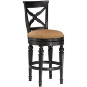 "Hillsdale Northern Heights 30"" Swivel Bar Stool in Black and Honey by Hillsdale Furniture LLC"