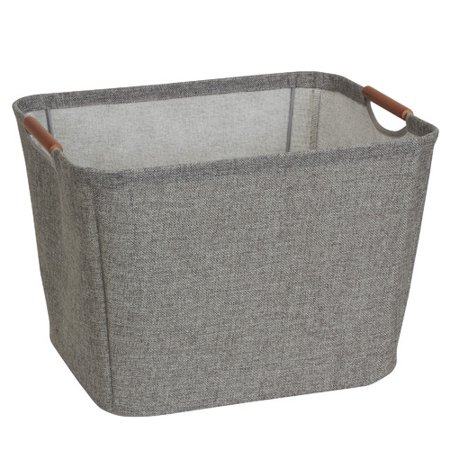 Household Essentials Tapered Storage Bin with Wood Handle