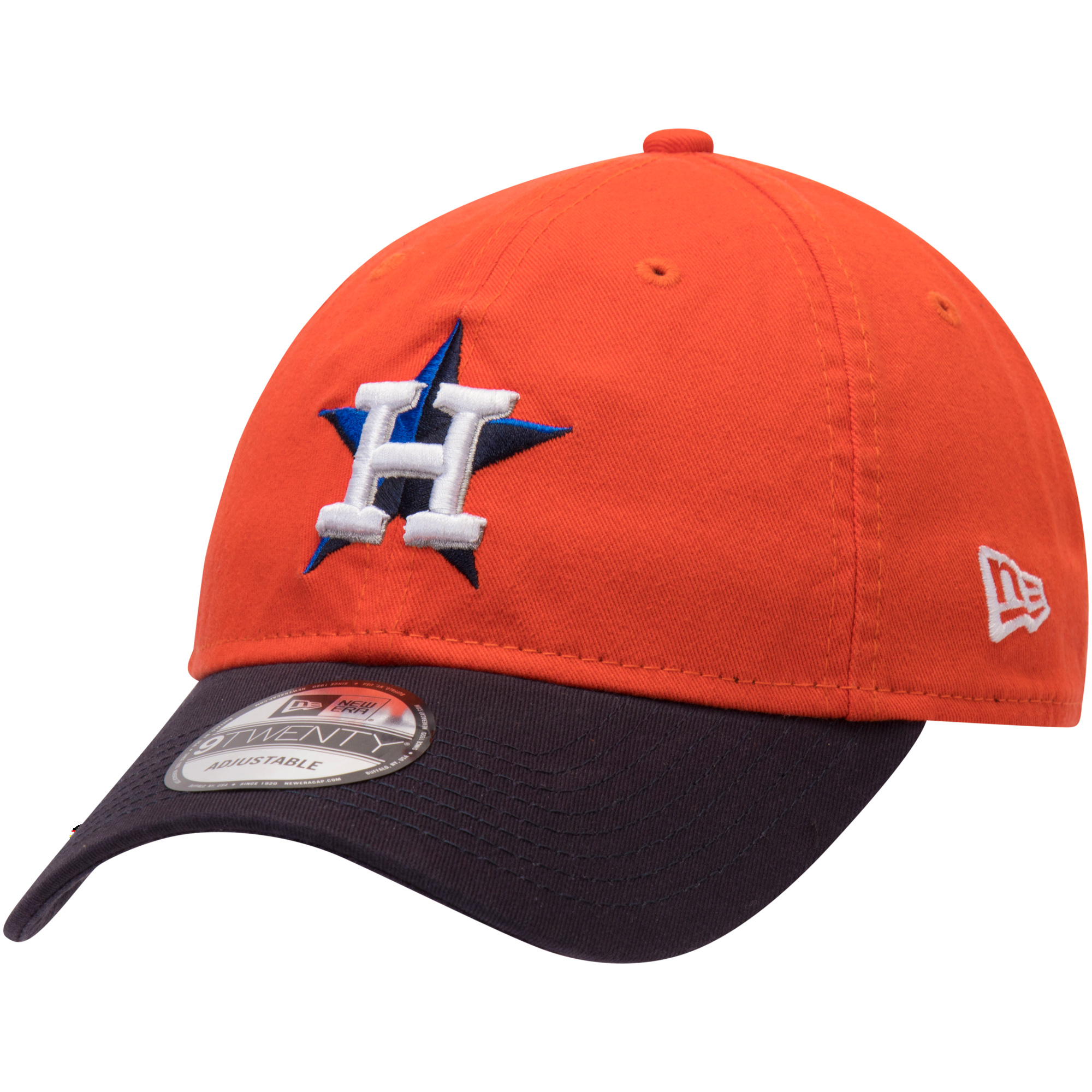 Houston Astros New Era Alternate Replica Core Classic 9TWENTY Adjustable Hat - Orange/Navy - OSFA