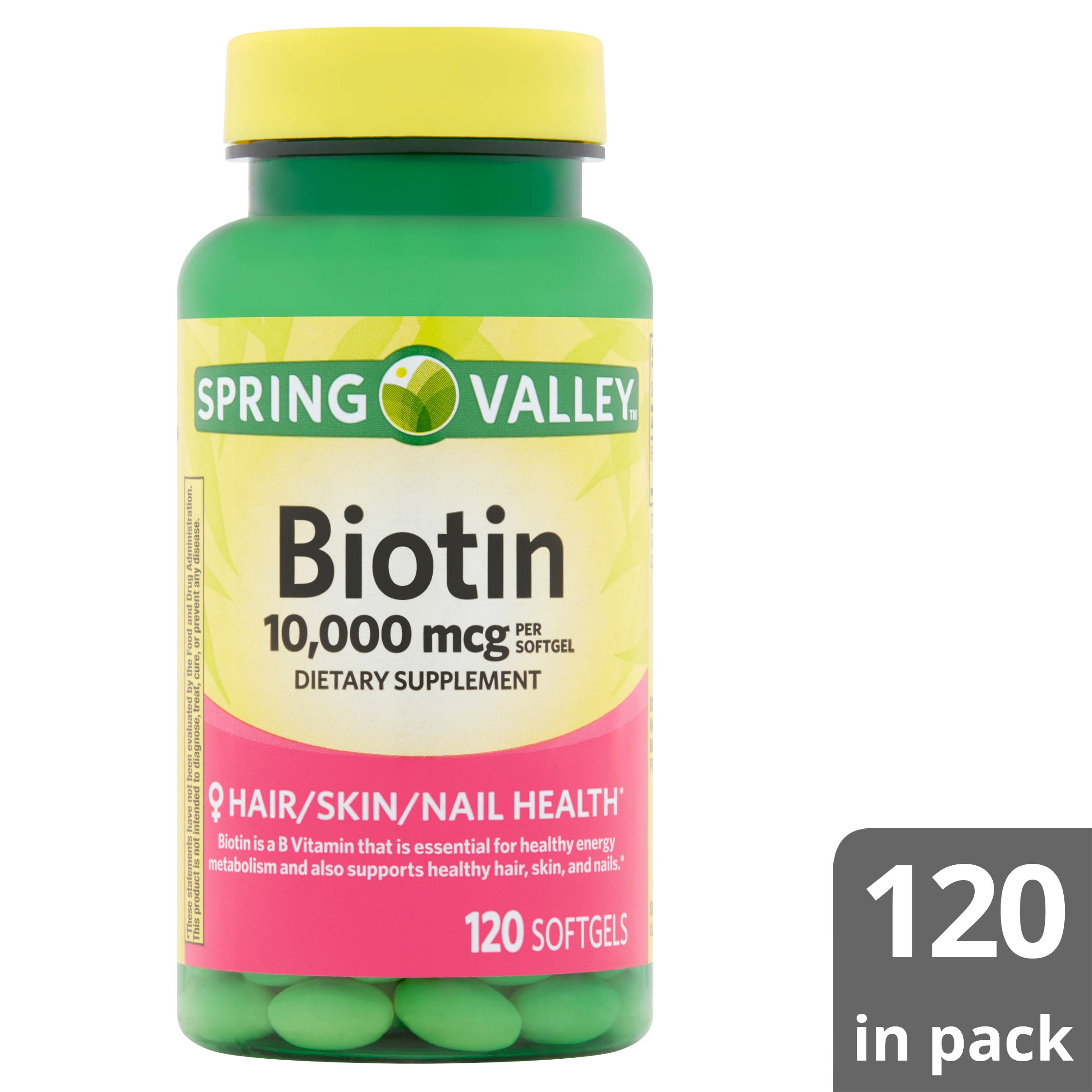 Spring Valley Biotin Softgels 648fa69153d0