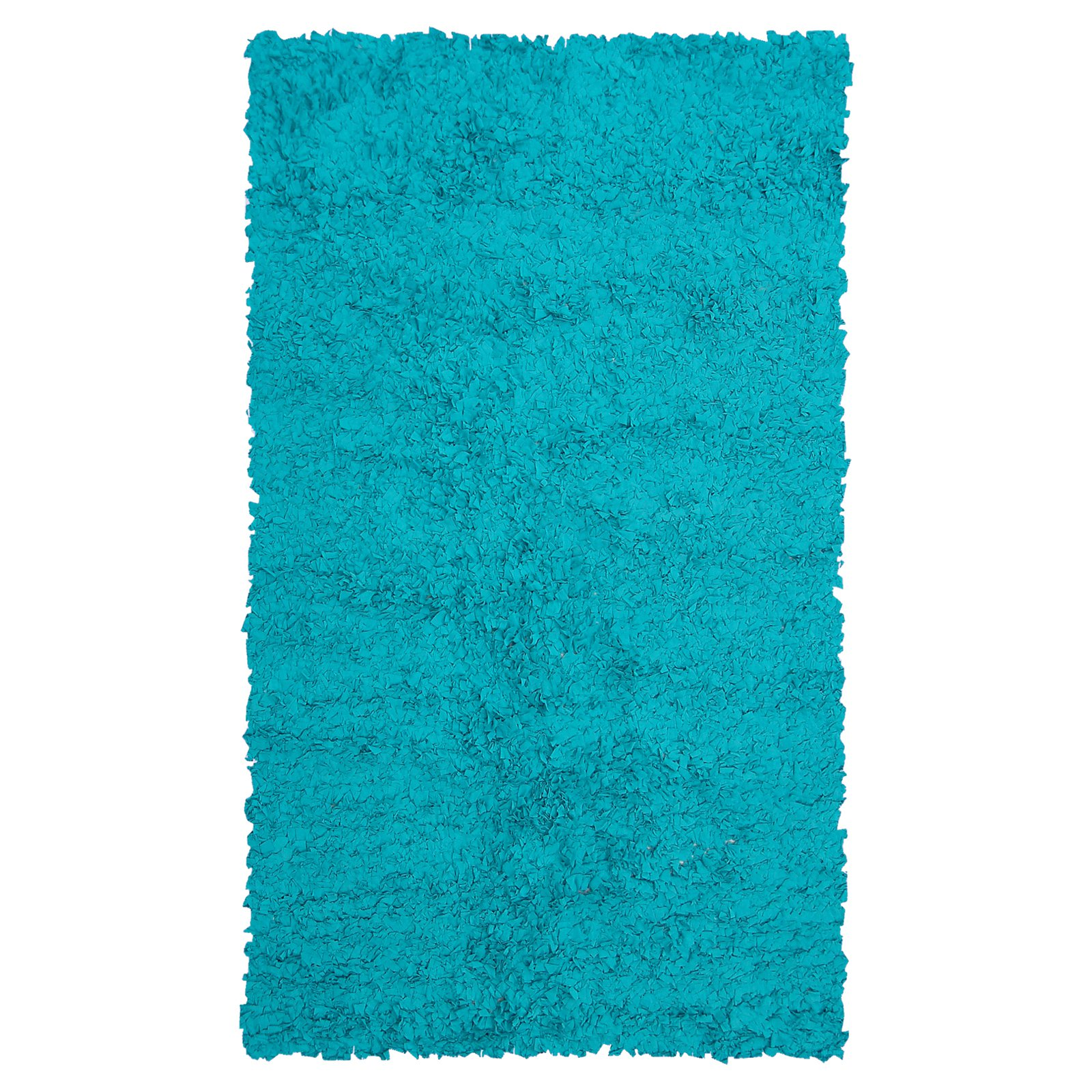 The Rug Market Shaggy Raggy Teal Size 2.8' x 4.8' Area Rug