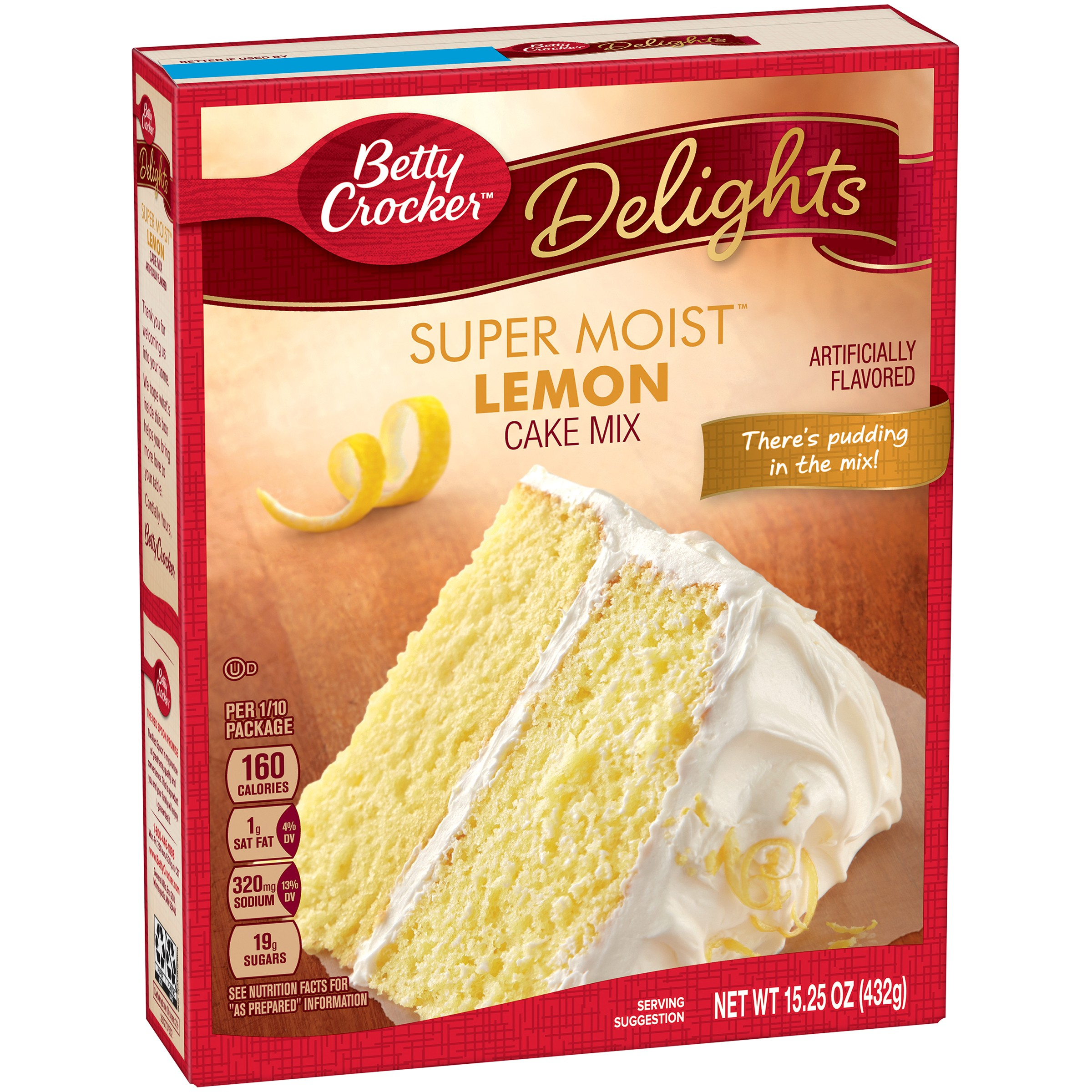 Betty Crocker Delights Super Moist Cake Mix Lemon, 15.25 OZ by General Mills Sales, Inc.