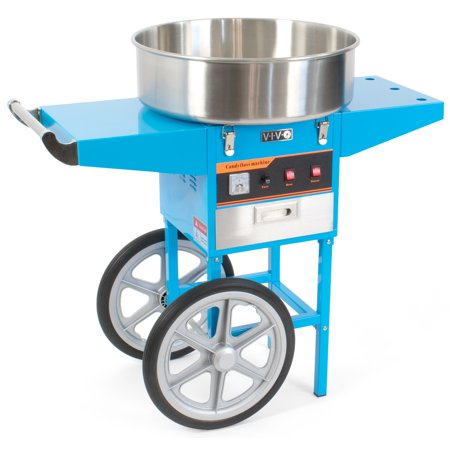 VIVO Blue Electric Commercial Cotton Candy Machine / Floss Maker Cart Stand (CANDY-V002B)
