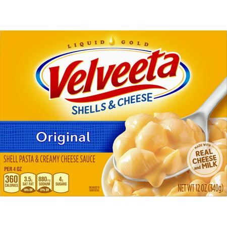 (4 Pack) Kraft Velveeta Original Shells & Cheese, 12 oz Box