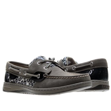 140557b6d489 Sperry - Sperry Top Sider Bluefish 2-Eye Grey Leopard Sparkle Women s Boat  Shoes 9353624 - Walmart.com