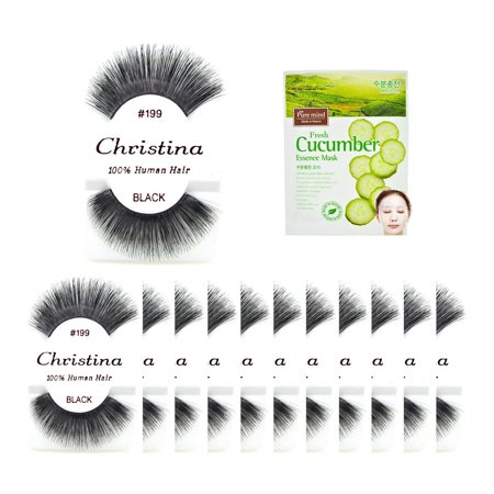 12 packs#199 100% Human Hair Fake Eyelashes, The best guaranteed quality lashes available in the eyelash market. By