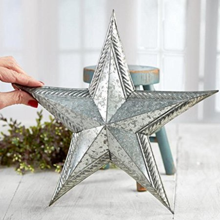 Rusty Tin Craft Supplies - Set of 2 Embossed Edge Galvanized Tin Barn Stars for Home Decor, Gifting, and Displaying, Set of 2 Embossed Edge Galvanized Tin Barn Stars for Home Decor, Gifting, and.., By Factory Direct Craft