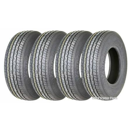 - Set 4 Premium Grand Ride Trailer Tire ST215/75R14 8PR Load Range D Steel Belted Radial
