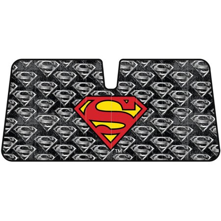 BDK Warner Bros Superman Sunshade, Folding Accordion with Static Cling Sun Shade