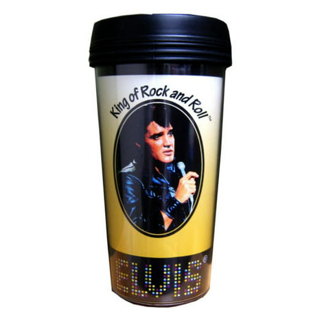 Elvis Presley Travel Coffee Mug Tumbler 16 oz Free Shipping Brand New Gift Tea - Cute Halloween Gif Tumblr