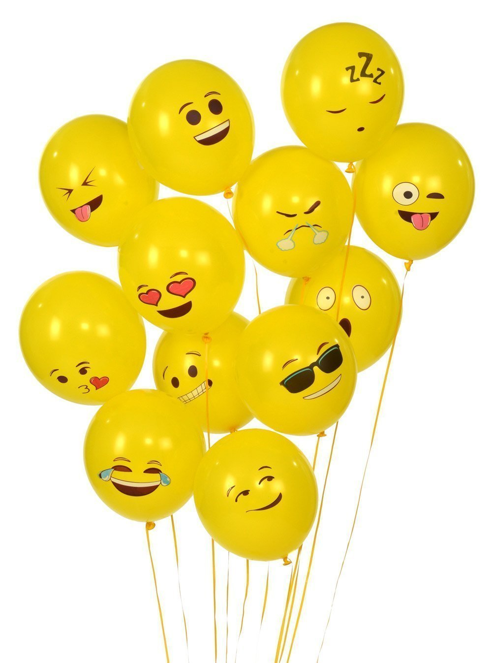 Etcbuys Emoji Mylar Party Balloons Supplies