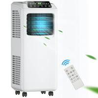 :Costway 8,000 BTU Portable Air Conditioner & Dehumidifier Function Remote w/ Window Kit
