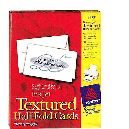Avery 3378 Textured Half-Fold Greeting Cards