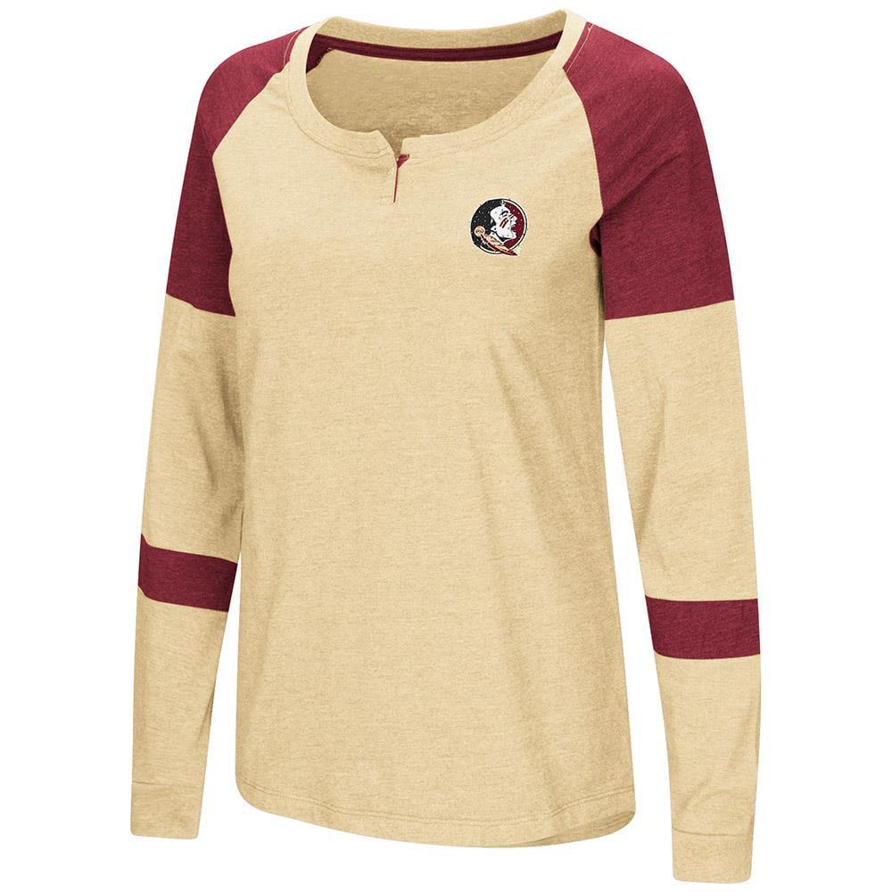 Womens Florida State Seminoles Long Sleeve Raglan Tee Shirt XL by Colosseum
