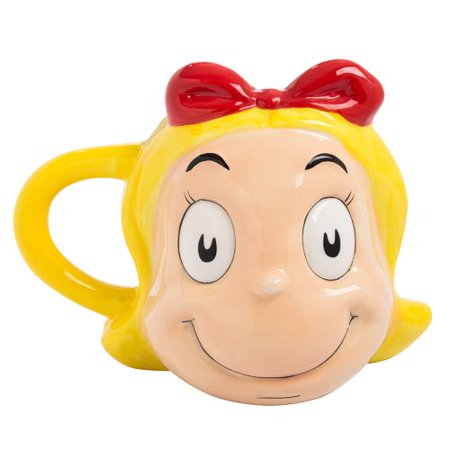 Vandor LLC Dr. Seuss Cindy Lou Who Ceramic Sculpted Coffee Mug - Cindy Lou Who Outfit