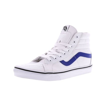 829aef29b006 Vans Sk8-Hi Reissue Canvas True White   Blue Ankle-High Skateboarding Shoe  - 9.5M 8M