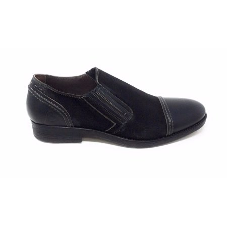 Bacco Bucci Mens Gentile Slip On Loafer Leather & Suede Black Size 13 D US
