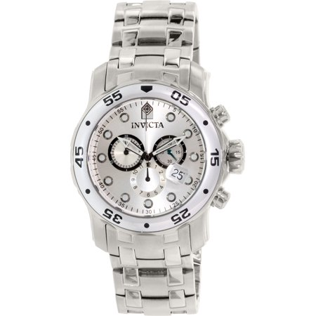 Men's Pro Diver 0071 Silver Stainless-Steel Swiss Quartz Fashion