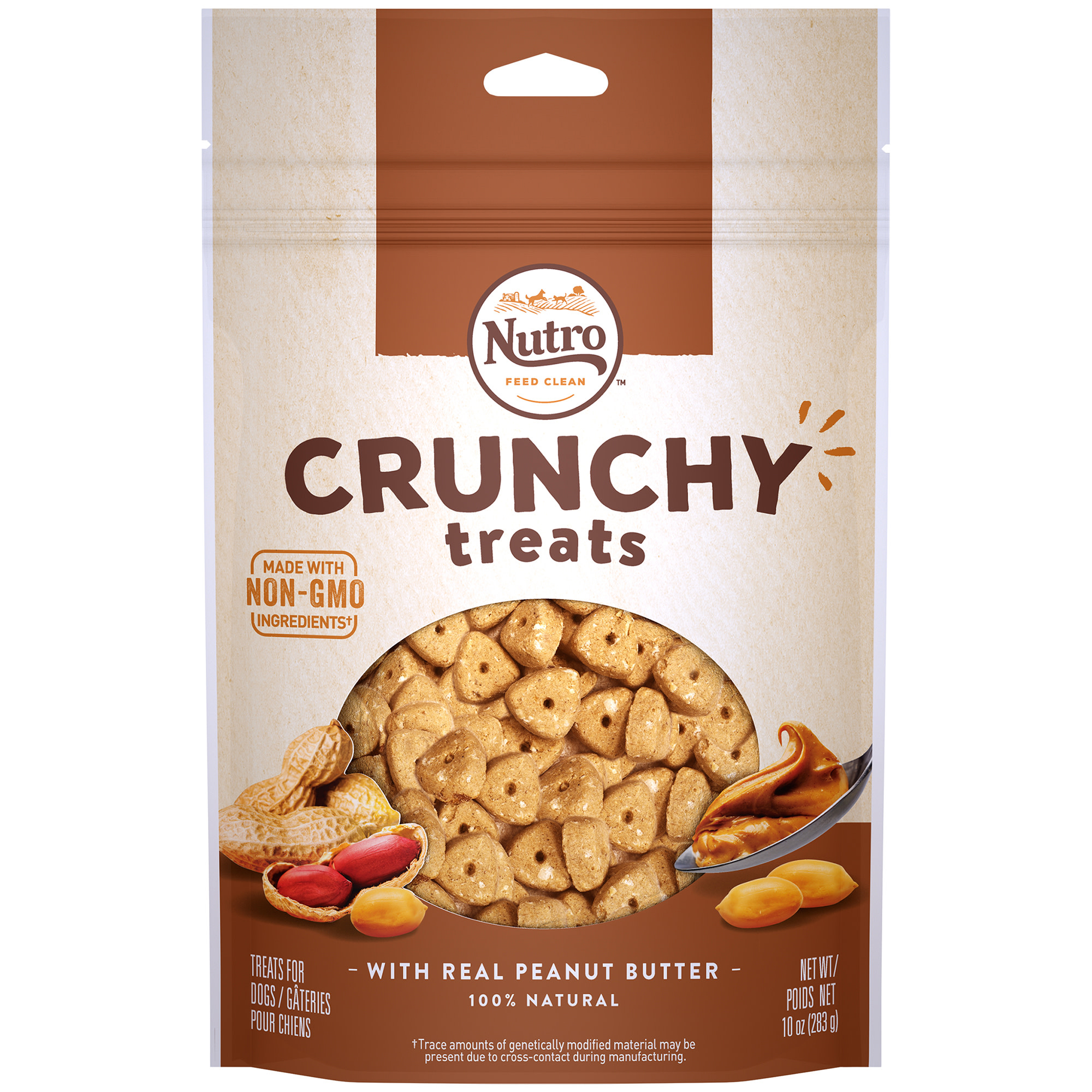 Nutro Crunchy Dog Treats with Real Peanut Butter, 10 Oz Bag by Mars Petcare Us