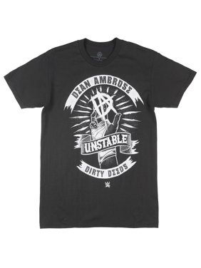 0cf1c42f Product Image Dean Ambrose Dirty Deeds Short Sleeve Graphic Tee WWE T-Shirt  Retro Mens Black