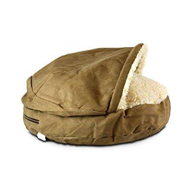Luxury Orthopedic Cozy Cave - Large/Camel
