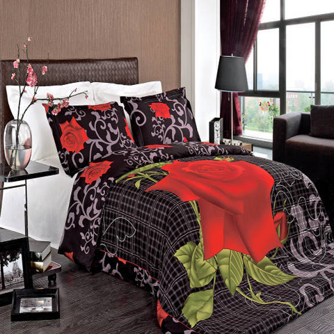 Clearance: Soft 100% Cotton Printed 3 Piece Duvet Cover Set-King/California King-Hayden
