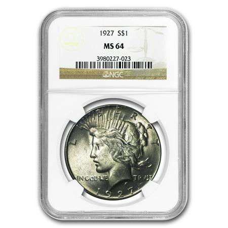 1927 Peace Dollar MS-64 NGC