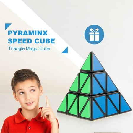 Magic Triangle (Pyraminx Speed Cube Triangle Magic Cube Pyramid Sticker Cube Puzzle Cube for Beginners Kids )