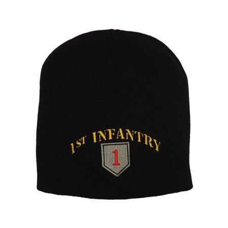 Manchester United Beanie - United States 1st Infantry Black Short Beanie